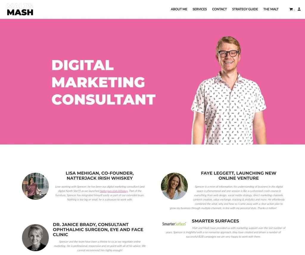 Malt and Mash Marketing Homepage